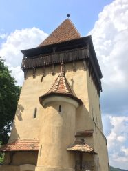 Tower within the fortified church
