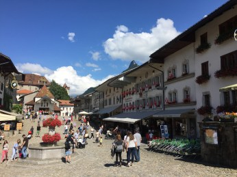 The main square of Gruyères