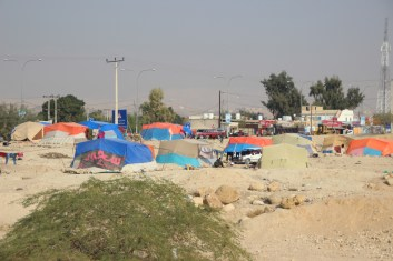 A camp between Dead Sea and Mount Nebo