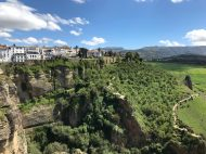 Spectacular perspective from Ronda's viewpoint