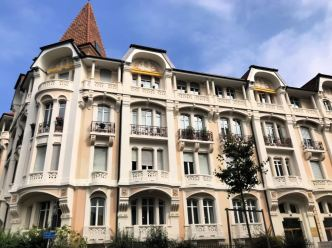 An elegant building in Lausanne