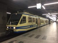 The vintage Centovalli train