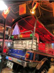 A Thai little bus at Thaikhun restaurant