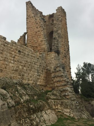 A tower in Ajlun castle
