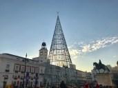 The Xmas tree at Puerta del Sol
