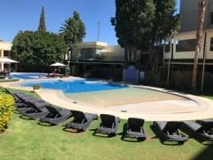 The swimming pool at the hotel Gran Cochabamba