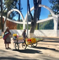 Street vendors in Parque Bolívar