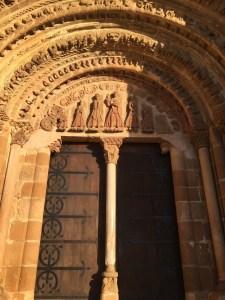 Façade of the Leyre Monastery