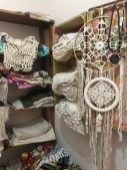 Knitted products on sale at the hostel