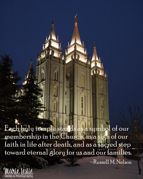 Salt Lake LDS Temple, Mormon Temple