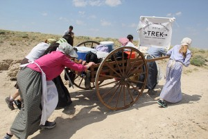 Women's Pull at the Mormon Pioneer Handcart Trek