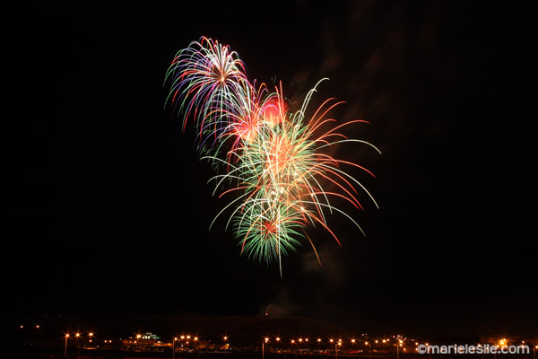 how to photograph fireworks unedited image