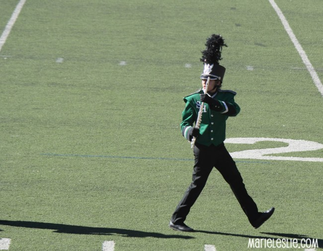 marching band flute player