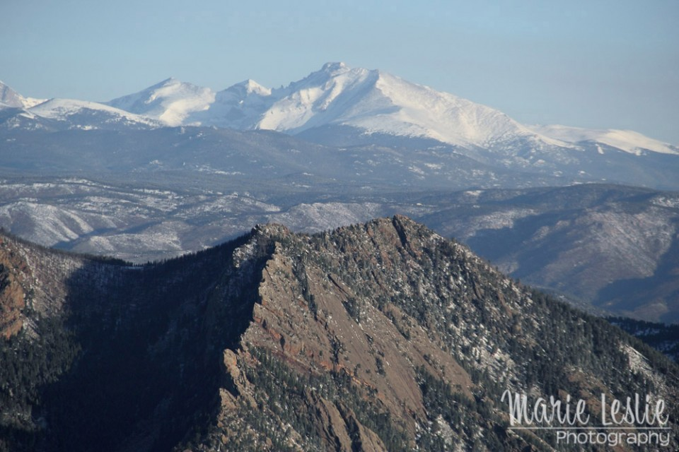aerial photography long's peak