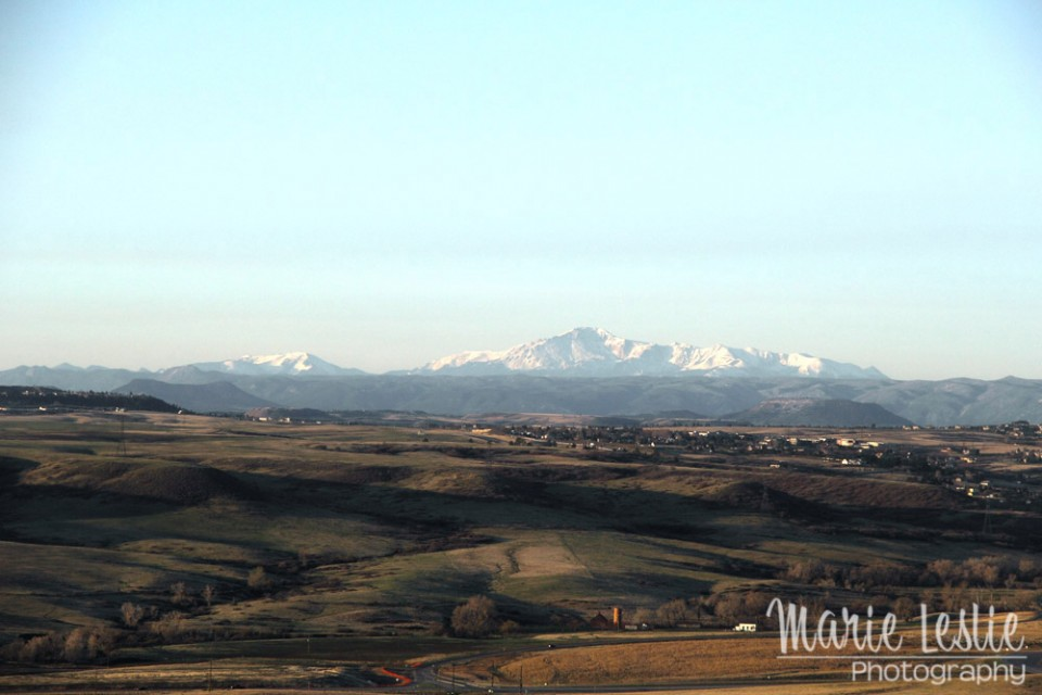 aerial photography pikes peak
