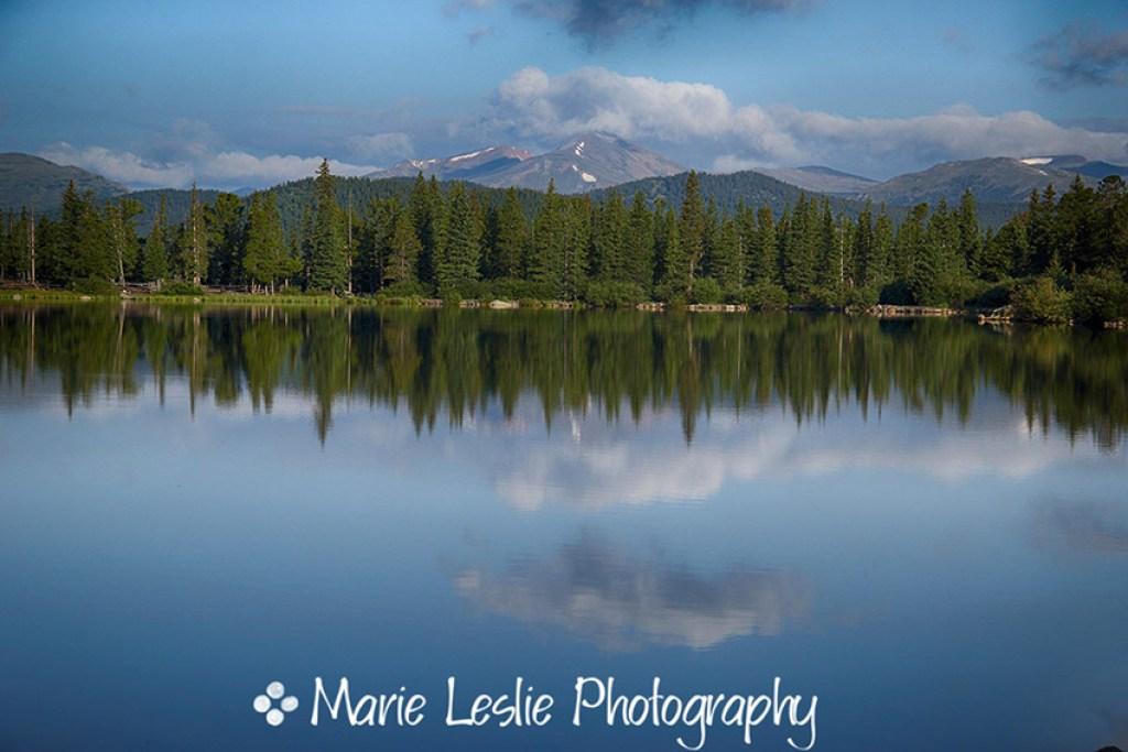Echo Lake and Alpine Peak