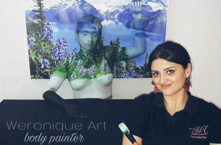 """""""Dipingo i corpi e trasformo il dolore in colore"""". La storia della body painting, Weronique Art"""