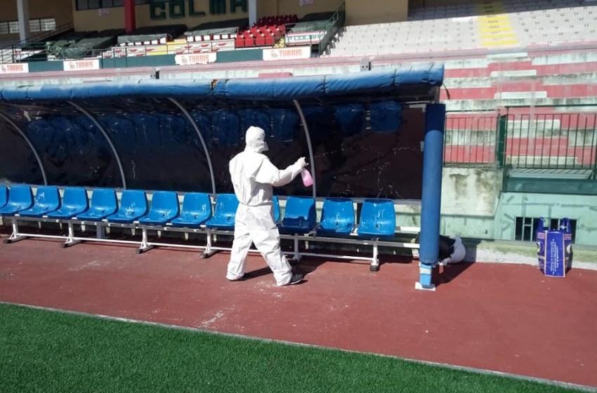Covid-19: sanificato anche lo stadio Liguori