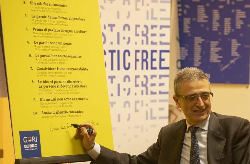 Gori sottoscrive un manifesto contro la violenza delle parole