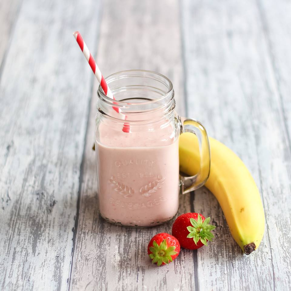 aardbei-banaan-smoothie