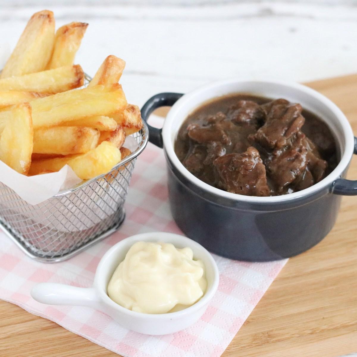 Vlaamse stoverij met friet