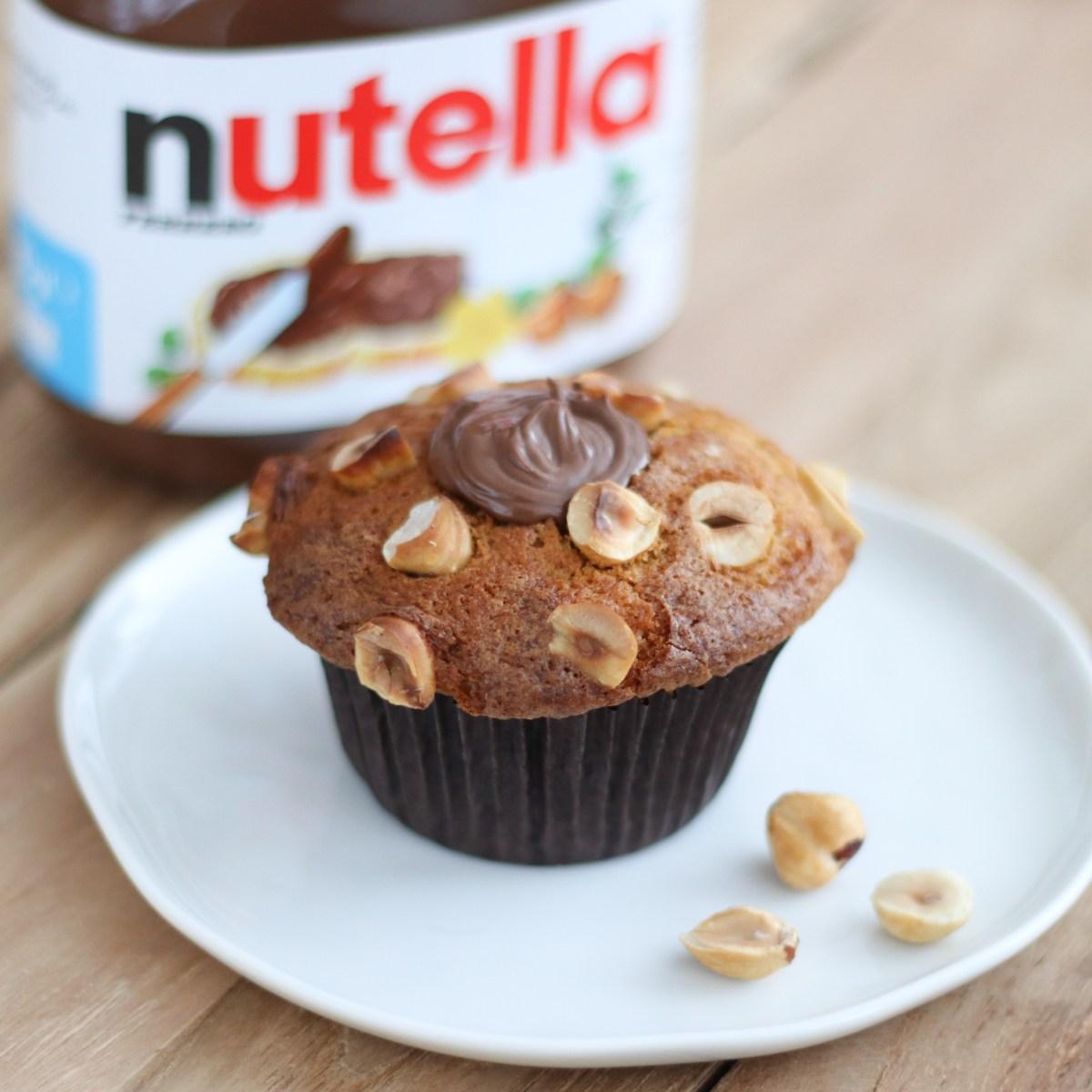 Nutella muffins met hazelnoten