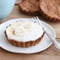 Ontbijtgebakjes met bananenyoghurt