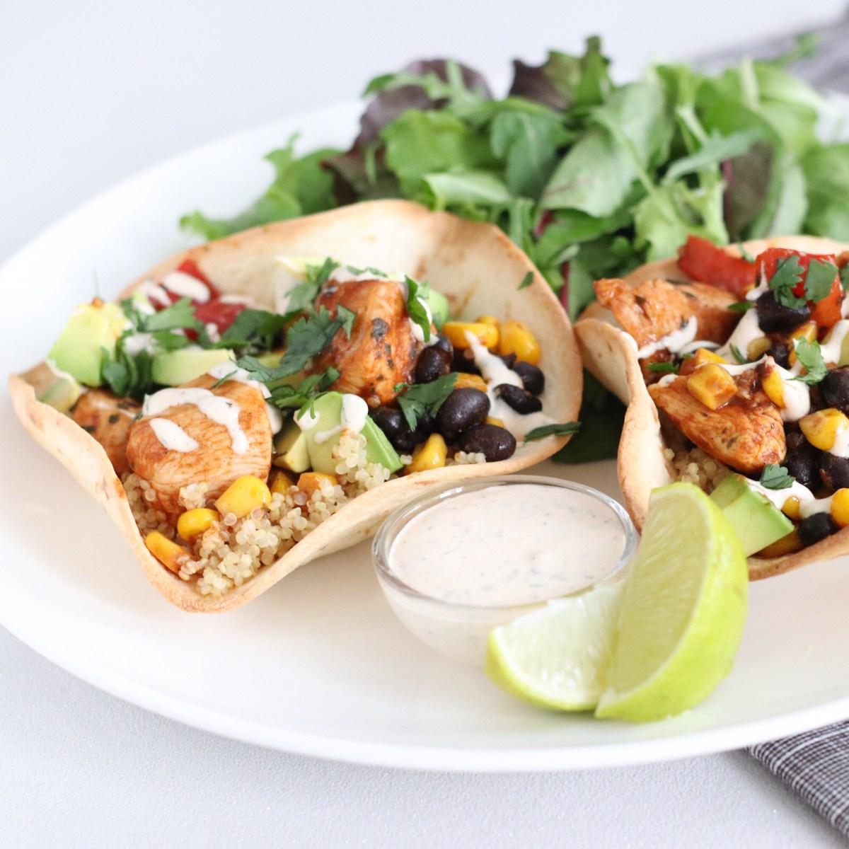 Burrito bowl met quinoa