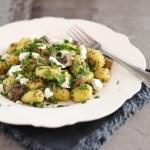 Gnocchi met champignons en geitenkaas