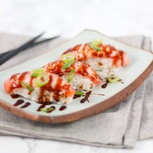 Geflambeerde zalm Sushi zelf maken