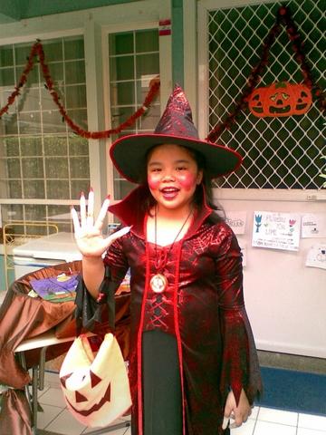 Sam as Halloween Devil