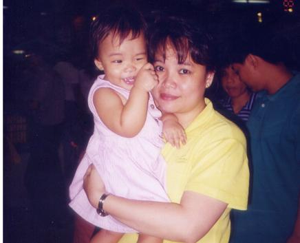 Mariel with Baby Sam