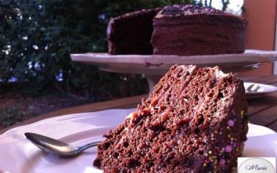 Layer Cake Chocolat Caramel… Marie Pop s'la joue pâtissière des grandes occasions !