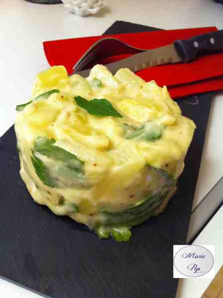 Salade d'asperges et de  pommes de terre