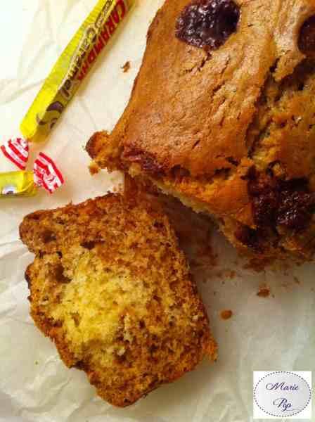 Cake au carambar et chocolat blanc - la recette