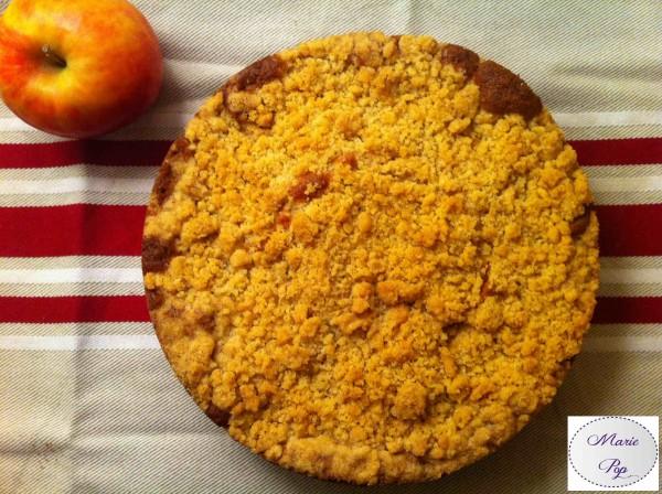 Gâteau Crumble aux pommes - la recette