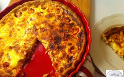 Tarte Saumon chèvre et tomates cerises – Marie Pop veut une part ou deux !