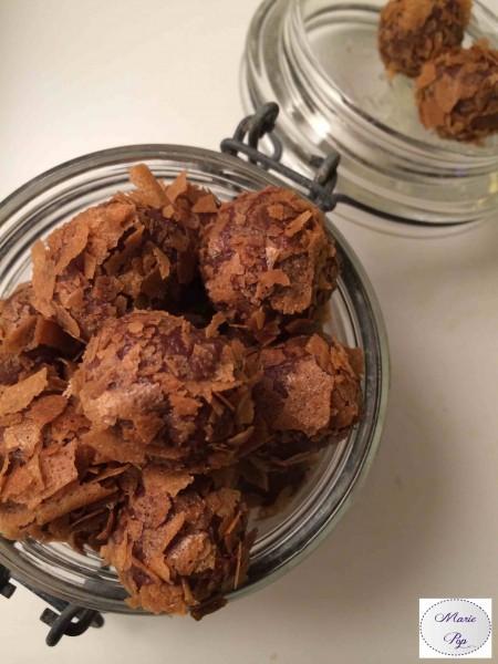 Truffes croustillantes au chocolat au lait praliné - la recette