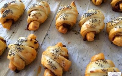 Mini croissants tomate et jambon de parme – Bonne résolution # 7 : Etre heureux !