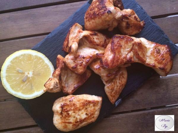 Poulet mariné au citron - la recette
