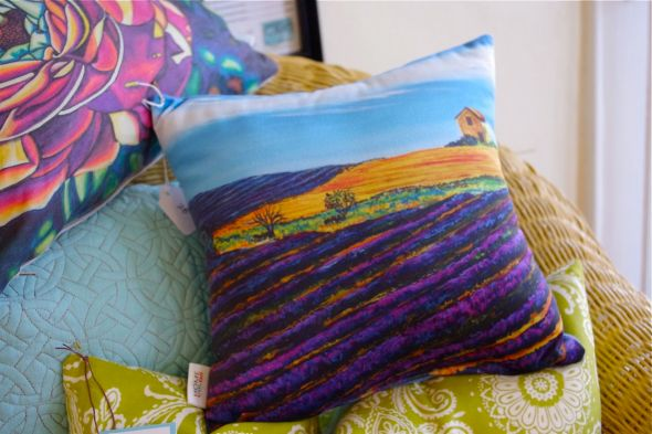 ON THE RD. TO ARLES #1 •my painting on a pillow! • $28
