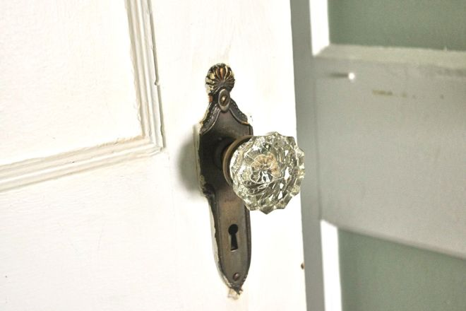 I am not sure what is behind the next door. Whatever the door is, I just hope it has cute knobs.