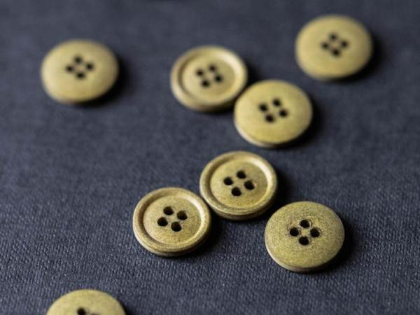 Cotton Button 15mm  | Pine