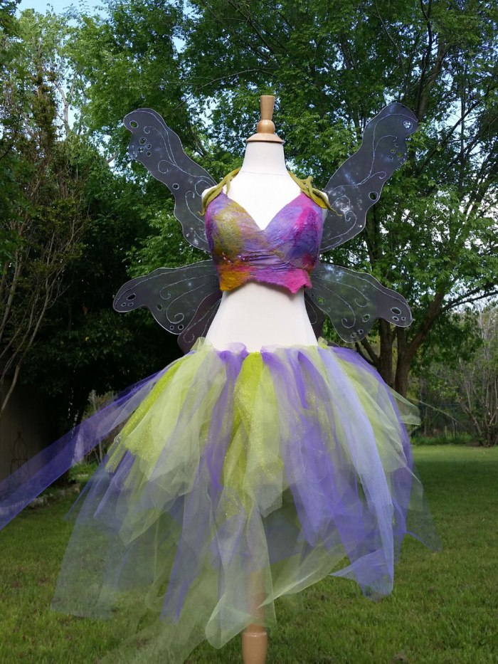 Nuno Felt Art Bra and DIY Fairy Costume by Marie Spaulding, founder of Living Felt