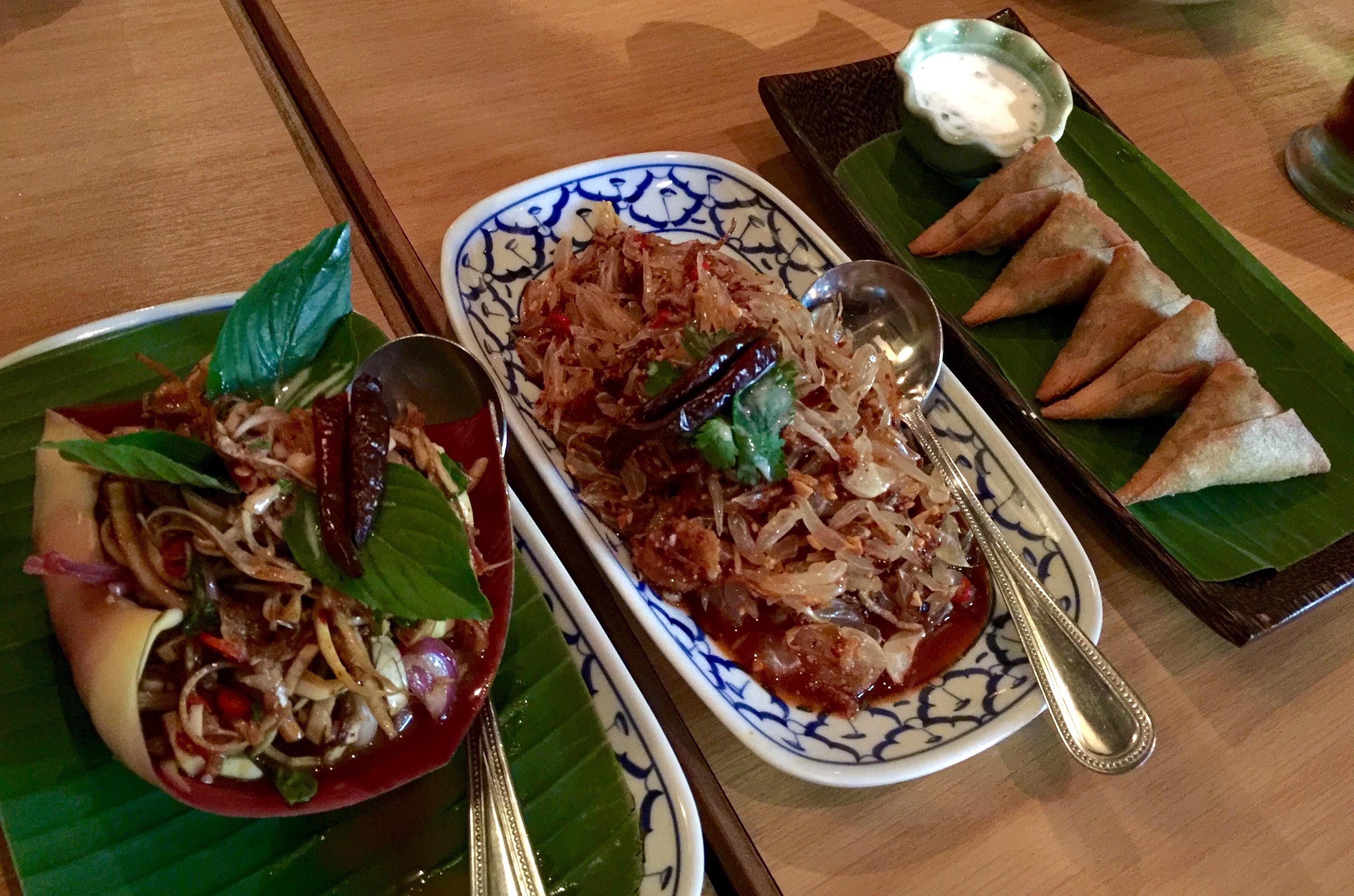 Yam Hua Plee, Yam Som-O, & Southern Thai Samosas Soul Food Mahanakorn in  Thonglo, Bangkok