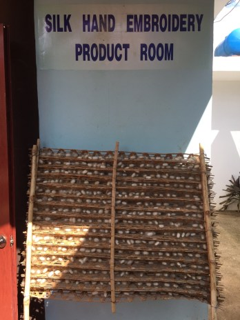 Drying silk cocoons in Da Lat, Vietnam