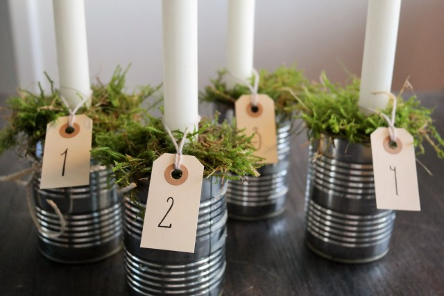 DIY adventskrans