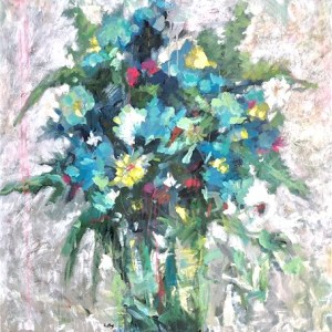 Abstracted bouquet of flowers