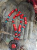 Handmade Pendant Necklace of Natural Red Stones