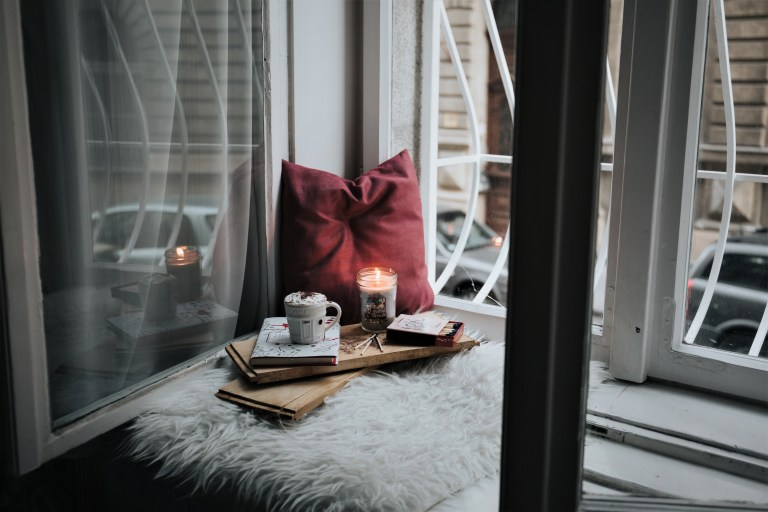 pillow and coffee